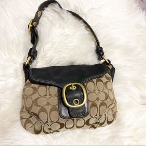 COACH BLEEKER SIGNATURE SM FLAP HOBO RM650 11441